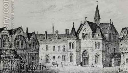 The Sorbonne in 1550 by (after) Pernot, Francois Alexandre - Reproduction Oil Painting