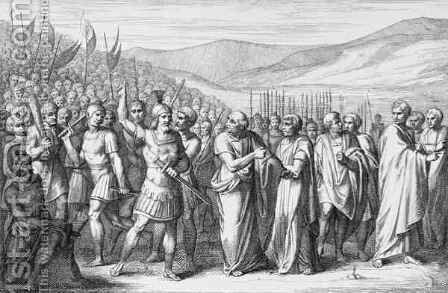 The Secession of the People to the Mons Sacer, engraved by B.Barloccini, 1849 by (after) Perkins, C.C - Reproduction Oil Painting
