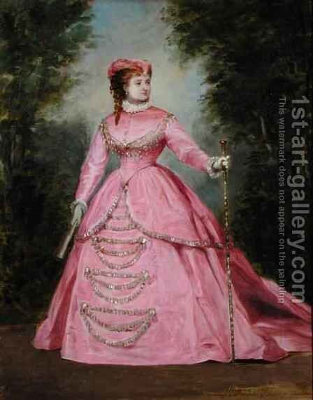 Hortense Schneider 1838-1920 1868 by Alexis Joseph Perignon - Reproduction Oil Painting