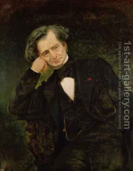 Portrait of Hector Berlioz 1803-69 by Achille Peretti - Reproduction Oil Painting