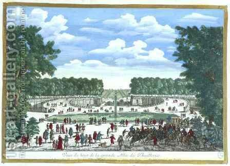 View of the Garden of the Palais des Tuilleries, from 'Vues des belles maisons de France, published 1680 by Adam Perelle - Reproduction Oil Painting