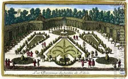 The Jardin de Sylvie, Chantilly, from Vues des belles maisons de France, published 1680 by Adam Perelle - Reproduction Oil Painting
