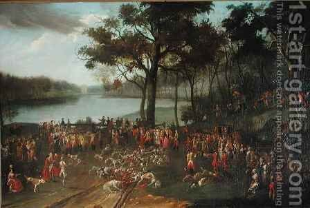 The Quarry at the Etangs de Commelles in 1771 by Jean Francois Perdrix - Reproduction Oil Painting