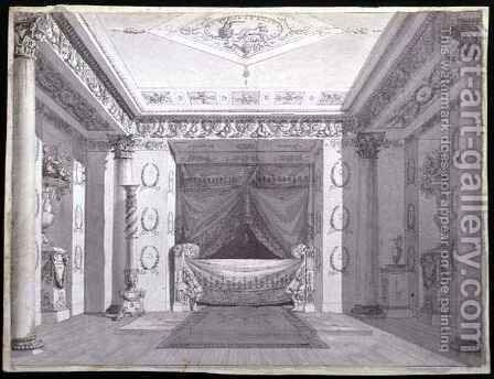 Design for an Empire Bedroom, c.1810 by Charles Percier - Reproduction Oil Painting