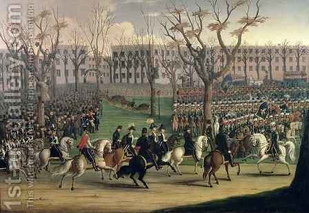 The Reception of General Louis Kossuth in New York City, 6th December 1851 by E. Percel - Reproduction Oil Painting