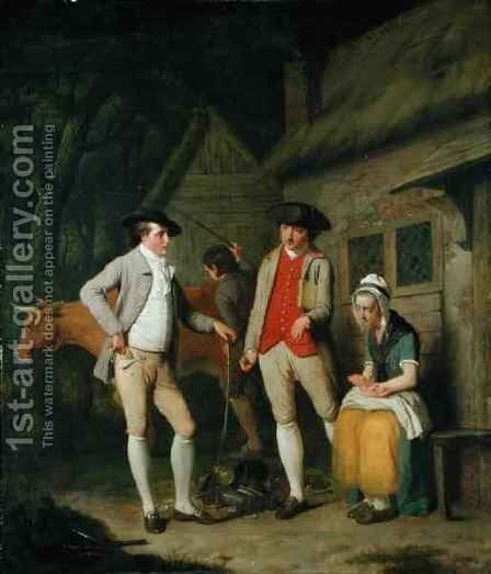 Widow Costards Cow and Goods, Distrained for Taxes, are Redeemed by the Generosity of Johnny Pearmain, 1782 by Edward Penny - Reproduction Oil Painting