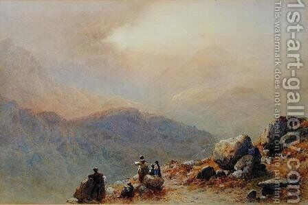 Snowdon by Sunset, 1869 by Aaron Edwin Penley - Reproduction Oil Painting