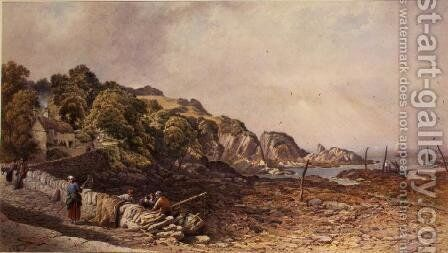 Lee near Ilfracombe, 1867 by Aaron Edwin Penley - Reproduction Oil Painting