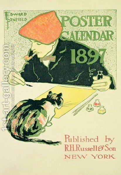 Poster Calendar, pub. by R.H. Russell and Son, 1897 by Edward Penfield - Reproduction Oil Painting