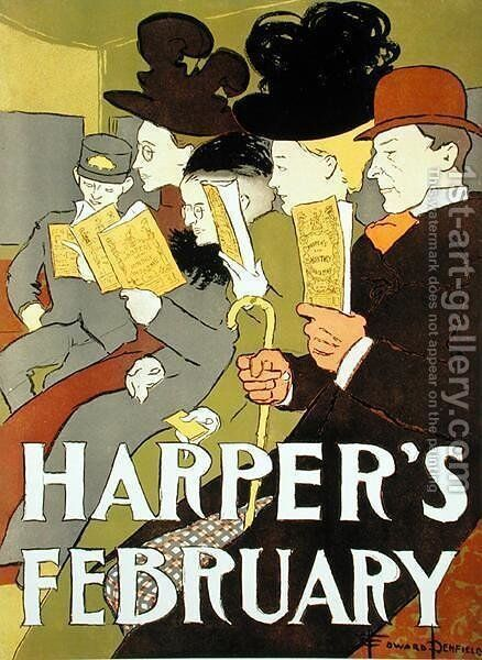 Cover illustration for Harpers magazine, 1896 by Edward Penfield - Reproduction Oil Painting