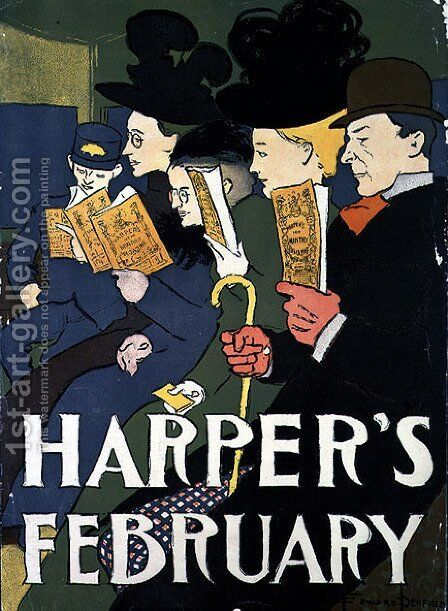 Harpers February, 1897 by Edward Penfield - Reproduction Oil Painting