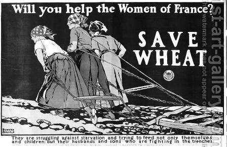 Will you Help the Women of France World War One poster by Edward Penfield - Reproduction Oil Painting