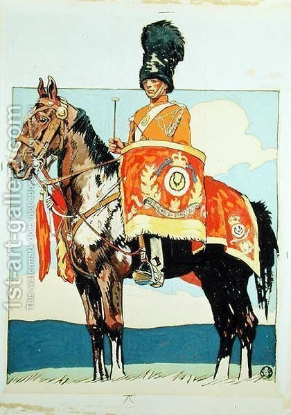 Drum Horse of the Scots Greys, 1915 by Edward Penfield - Reproduction Oil Painting