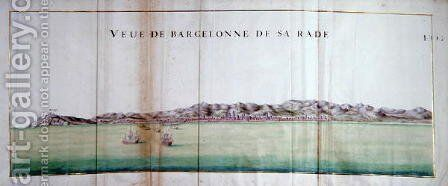View of Barcelona and its port, 1679 by Charles Pene - Reproduction Oil Painting