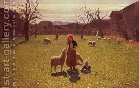 Deluded Hopes by Giuseppe Pellizza da Volpedo - Reproduction Oil Painting