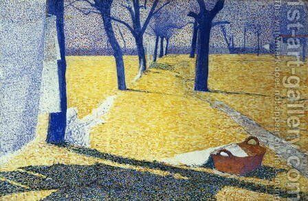 Washing in the Sun, 1905 by Giuseppe Pellizza da Volpedo - Reproduction Oil Painting