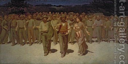 The Fourth Estate, 1898-1901 by Giuseppe Pellizza da Volpedo - Reproduction Oil Painting
