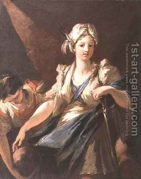 Judith and her Maidservant with the Head of Holofernes, c.1710 by Giovanni Antonio Pellegrini - Reproduction Oil Painting