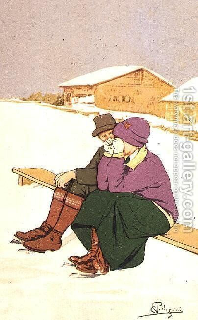 The Crying Skater by Carlo Pellegrini - Reproduction Oil Painting