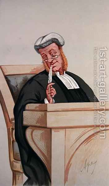 Popular Judgement, from Vanity Fair, 1st January 1876 by Carlo ('Ape') Pellegrini - Reproduction Oil Painting