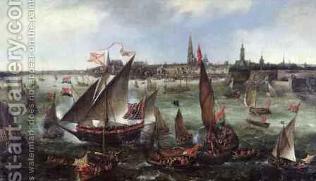 View of the Port of Antwerp during the Celebrations of the Taking of Breda, 1628 by Bonaventura, the Elder Peeters - Reproduction Oil Painting