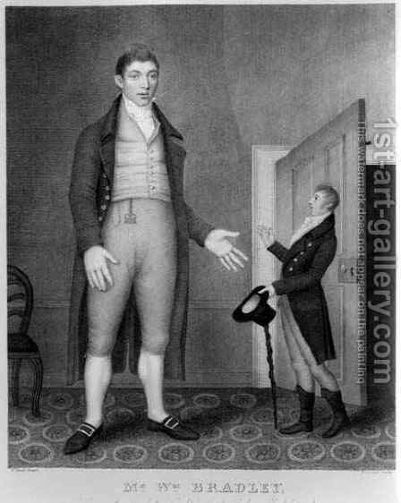 Portrait of Mr William Bradley, engraved by Freeman, 1793 by (after) Peat, Thomas - Reproduction Oil Painting