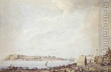 A View from the City of Quebec the Capital of Canada, Taken from the Ferry House on the Opposite Side of the River, 3rd October 1784 by James Peachey - Reproduction Oil Painting