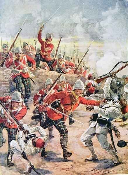 Storming the Trenches, illustration from Glorious Battles of English History by Major C.H. Wylly, 1920s by Henry A. (Harry) Payne - Reproduction Oil Painting