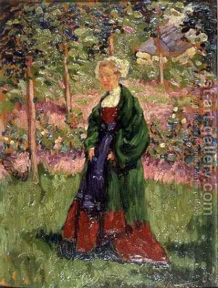 Breton Woman by A.J. Patterson - Reproduction Oil Painting