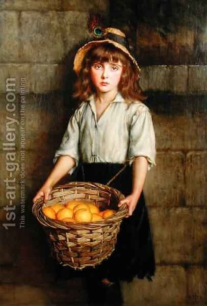 An Orange Girl by Edward Patry - Reproduction Oil Painting