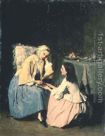 Tending the Sick by I. Patrua - Reproduction Oil Painting