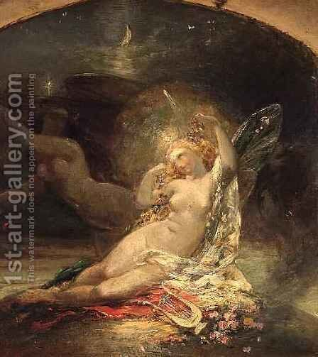 The Fairy Queen by Sir Joseph Noel Paton - Reproduction Oil Painting