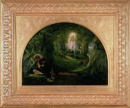 La Belle Dame Sans Merci The Story of Thomas Rhymer by Sir Joseph Noel Paton - Reproduction Oil Painting