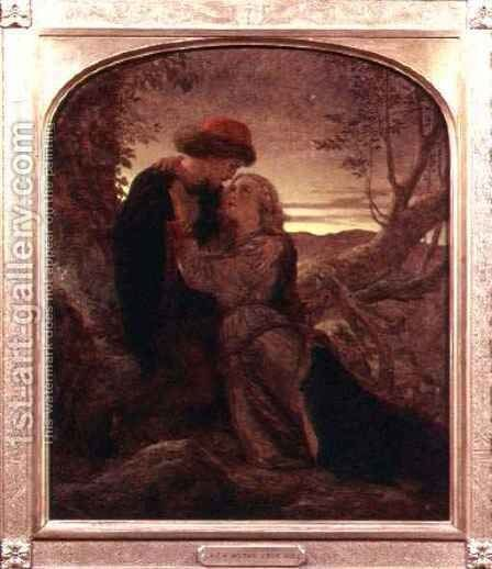 Lovers Tryst by Sir Joseph Noel Paton - Reproduction Oil Painting