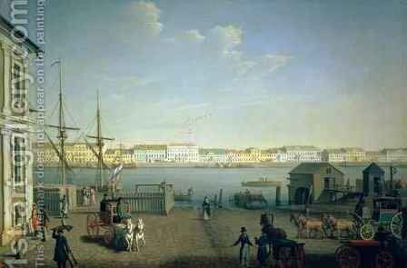 English Shore Street in St Petersburg, 1790s by Benjamin Patersson - Reproduction Oil Painting