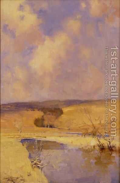 Winter Sunshine, Moniaive, 1889 by James Paterson - Reproduction Oil Painting