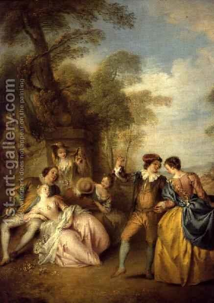 The Dance, 1730s by Jean-Baptiste Joseph Pater - Reproduction Oil Painting