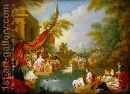 The Bathers by Jean-Baptiste Joseph Pater - Reproduction Oil Painting