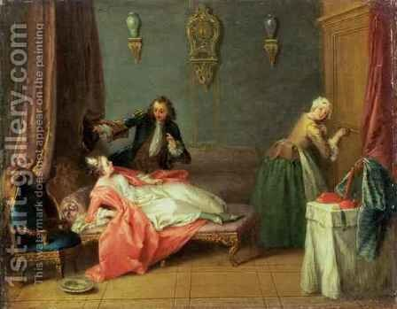 The Boudoir, 1730s by Jean-Baptiste Joseph Pater - Reproduction Oil Painting