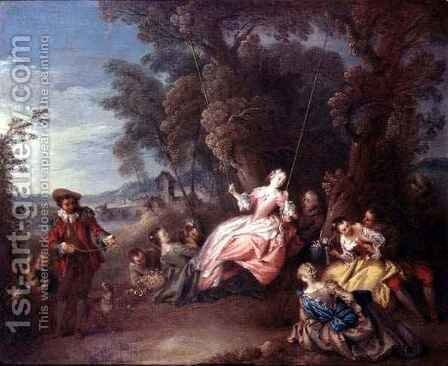 The Swing by Jean-Baptiste Joseph Pater - Reproduction Oil Painting