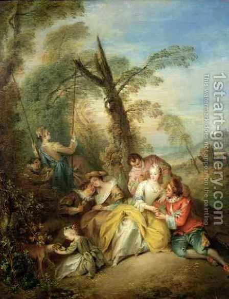 The Swing, 1730s by Jean-Baptiste Joseph Pater - Reproduction Oil Painting
