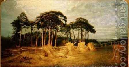Sheaves of Wheat after the Harvest by Charles Henry Passey - Reproduction Oil Painting