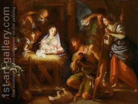 Adoration of the Shepherds by Giuseppe Passeri - Reproduction Oil Painting