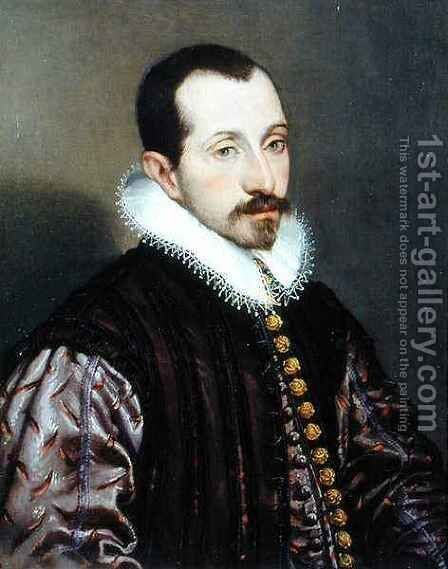 Portrait of a Young Man, c.1585 by Bartolomeo Passarotti - Reproduction Oil Painting