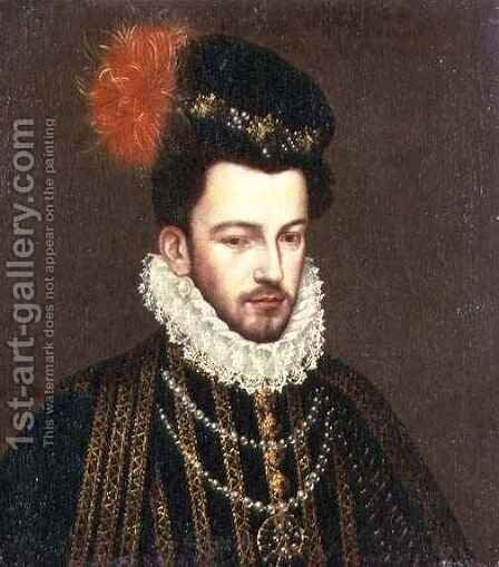 Portrait of a Nobleman by Bartolomeo Passarotti - Reproduction Oil Painting