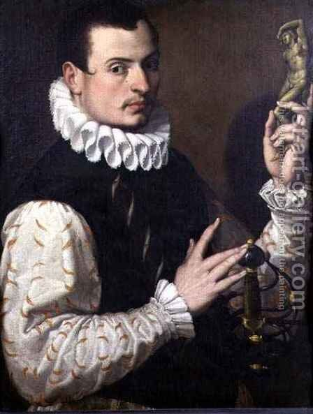 Portrait of a Young Man by Bartolomeo Passarotti - Reproduction Oil Painting
