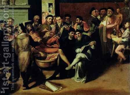 An Anatomy Lesson for Artists by Bartolomeo Passarotti - Reproduction Oil Painting