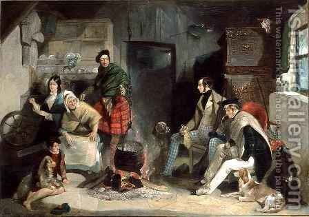 Highland Interior, after Sir Edwin Landseer 1802-73 by (attr. to) Pasmore, John Frederick - Reproduction Oil Painting