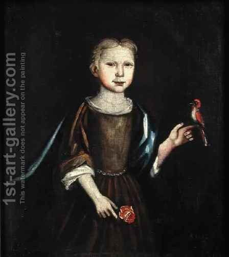 Miniature of a Child by May Partridge - Reproduction Oil Painting