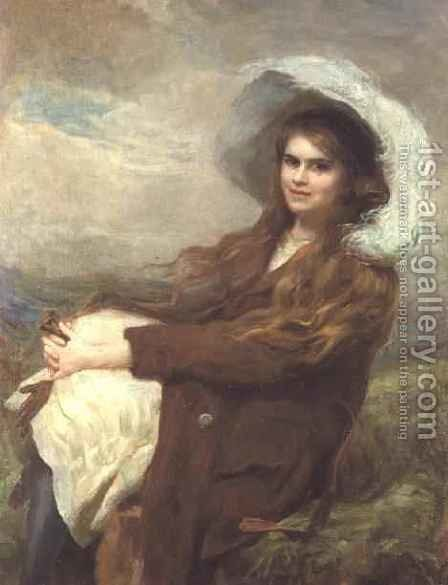 The Country Girl by J.V.R. Parsons - Reproduction Oil Painting